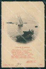Napoli Città Barche Russo ABRASA cartolina XB3067