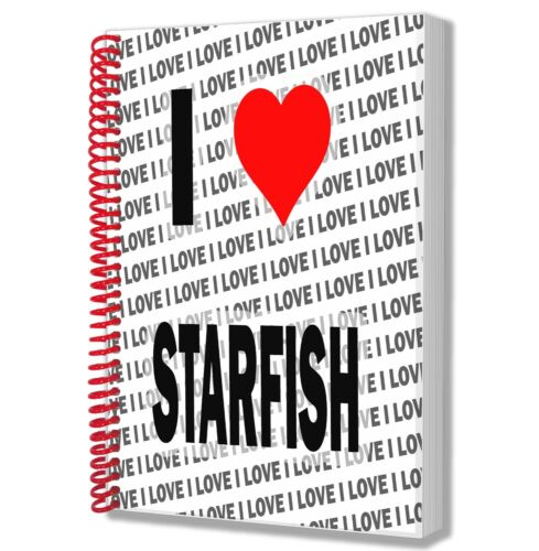 I Love Starfish A5 Notebook Pad Diary Drawings Birthday Christmas Gift