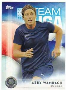 2016-Topps-US-Olympic-Team-USA-Silver-40-Abby-Wambach-Soccer