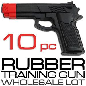 BULK-LOT-of-10-Rubber-Guns-Karate-Practice-Pistol-Police-Self-Defense-Training
