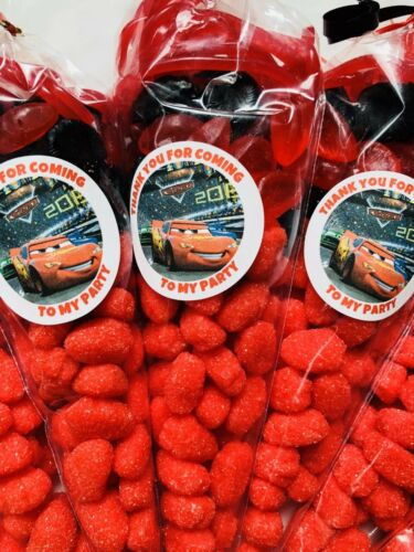 Pixar Cars Style Kids Sweet Candy Cones Sweets Party Bags Filled Thank You Bag