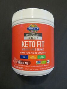Garden Of Life Keto Fit Weight Loss Shake Chocolate 12.87 Oz 10 Servings @N
