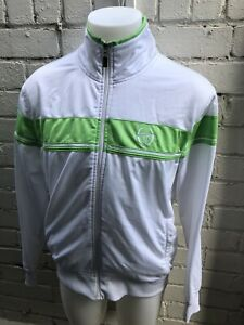 VINTAGE-SERGIO-TACCHINI-Track-Top-Retro-80-s-Casual-Jacket-L-White-Green