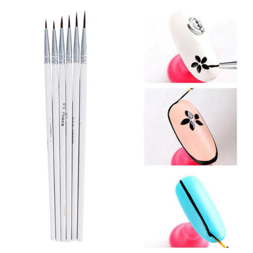 Pack of 6Pcs Detail Paint Brush Art Brushes Kit for Fine Detailing Craft Artist