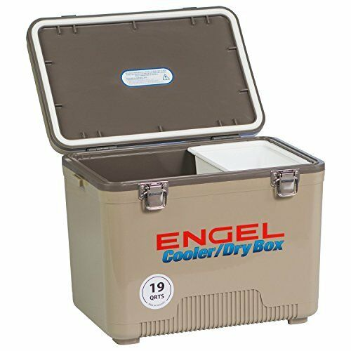 Sturdy Cooler Dry Box - Excellent Lunch Box w  Secure Latches (19 Quart)