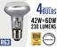 4x Eco 42w = 60w Dimmable Halogen Spot Light Bulb Lamp R63 E27 //ES Screw Fit