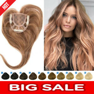 THICK-Mono-Silk-Base-100-Remy-Human-Topper-Hairpiece-Toupees-For-Loss-Hair-P275