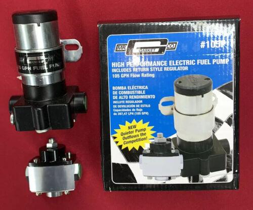 Gasket 105P Electric Fuel Pump for Holley Carburetor 105 gph with Regulator Mr