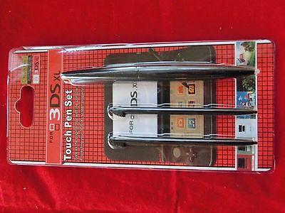 3 x Nintendo 3DS XL / LL Stylus/ Stifte Set mit Jumbo Touchpen Schwarz - OVP -