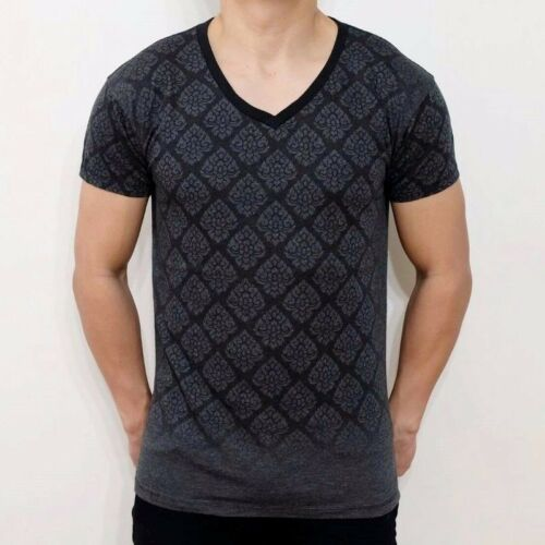 NEW MEN/'S TYPICAL THAI CONTEMPORARY PAINTING DRAWING PORTRAIT MURAL BLACK TSHIRT