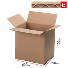 20 Faltkartons 400x300x400 mm Einwellig Versandkartons Karton B-Welle braun