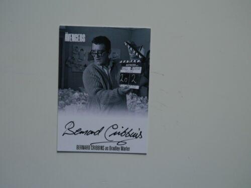 Black THE AVENGERS COMPLETE COLLECTION Autograph Card Bernard Cribbins AVBC1