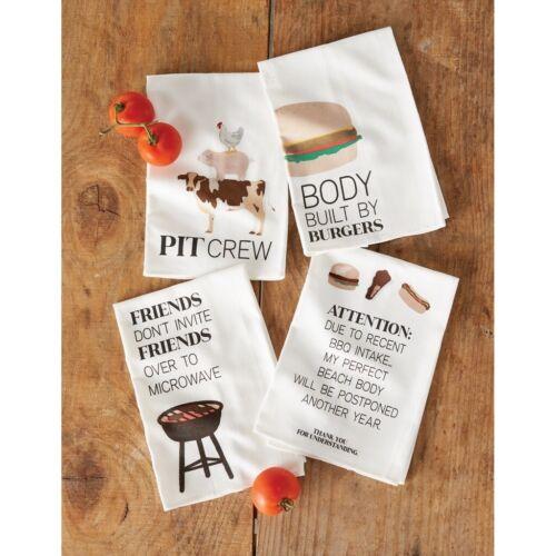 "Mud Pie E1 Home 26/""x16.5/"" Barbecue BBQ Cotton Towel 41500104 Choose Design"