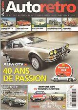AUTO RETRO 386 SPITFIRE 1500 BERTONE X1/9 ALFETTA GTV 2000 LOMAX 224 205 T16 300