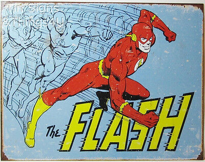 The Flash Retro metal poster TIN SIGN dc comics vintage superhero bar decor 1959