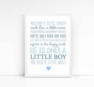 Hold-him-her-a-little-longer-A4-print-nursery-print-children-039-s-print-quote-baby