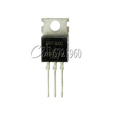 10Pcs IRF840N IRF840 N-channel MOSFET TO-220 IR Transistor 8A 500V