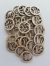 Calendar Circle Number Wooden Cut Outs ( Advent Numbers )