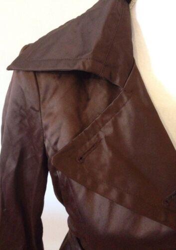 Små r Størrelse Jacket Bebe Satin Kvinders Brun Coat wFq4fXx1