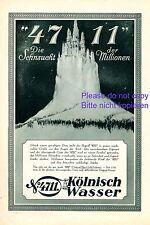 Parfum 4711 Märchenschloss Reklame 1929 Zauberschloss Sehnsucht Werbung Märchen