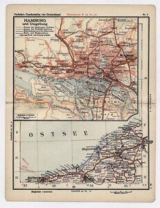 Pommern Germany Map.1930 Original Vintage Map Pommern Koeslin Stolp Kolberg Poland