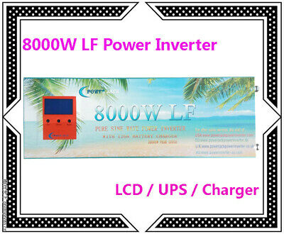32000w/8000w Lcd/ups/charger Split Phase Power Inverter 24vdc/110v,220vac 60hz Beneficial To The Sperm Home & Garden