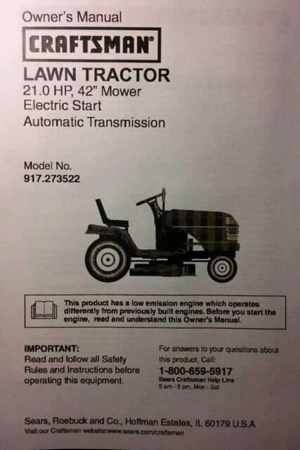 sears craftsman lt1000 42 lawn mower deck parts rebuild kit 144959 rh ebay com Craftsman Tractor Manual PDF Craftsman Tractor Manual PDF