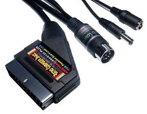 Amstrad-464-amp-6128-PLUS-High-Quality-POWERED-RGB-Scart-Cable-TV-Video-Lead-2mtr