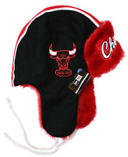 Chicago Bulls New Era Helmet Head Knit Trapper, One Size