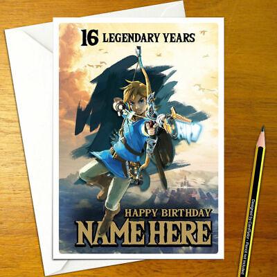 Zelda a link to the Past Personalizado De Cumpleaños Tarjeta-Leyenda Retro Personalizadas