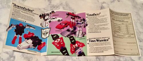 Transformers g1 Original insérer des renforts de Cybertron catalogue Vintage