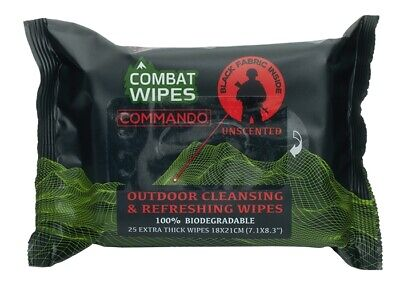 Combat Wipes Soldier Reinigungstücher Commando Outdoor Camping 25er Pack