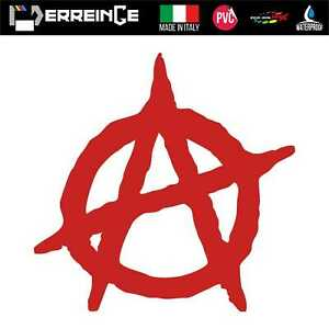Sticker-ANARCHY-Adesivo-Murale-Decal-Laptop-Auto-Moto-Casco-Parete-Camper-Murale
