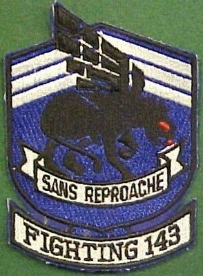 Large US Navy Fighting 143rd Squadron Sans Reproache Patch