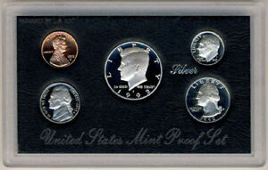1992-US-Mint-SILVER-Proof-Set-Gem-Coins-w-Box-amp-COA