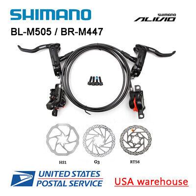 Shimano Deore M505 MTB Hydraulic Disc Brake Set Front/&Rear BL-M505//BR-M447 G3HS1