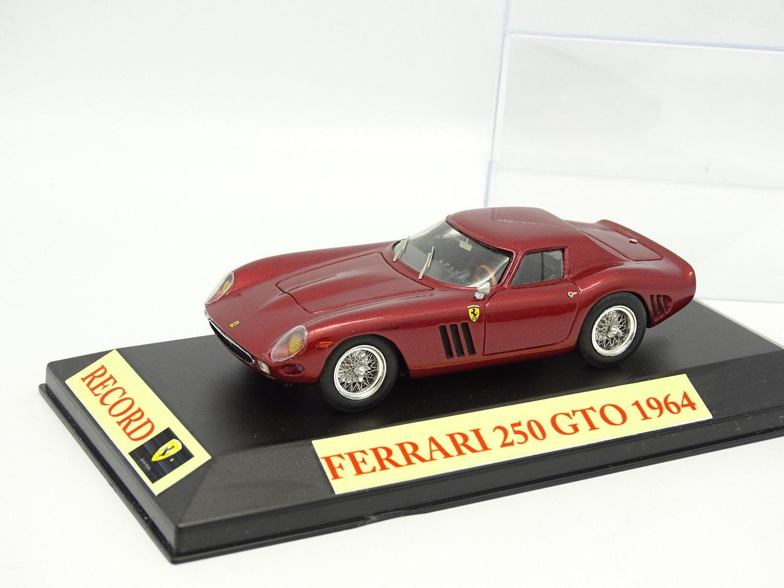 Kit Montado Base Record 1 43 - Ferrari 250 GTO 1964 rosso Metal
