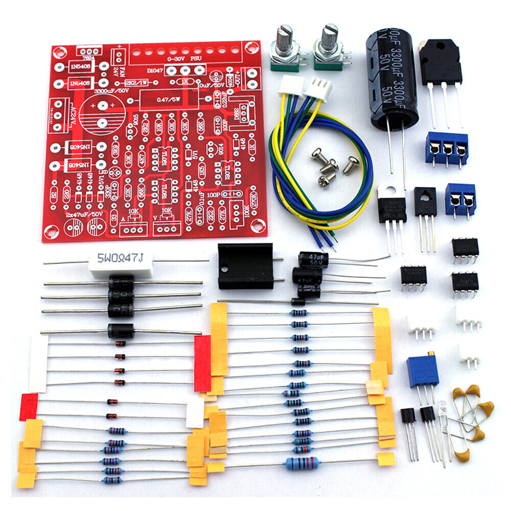 0-30V 2mA-3A Adjustable Limiting Protection DC Regulated Power Supply DIY Kit
