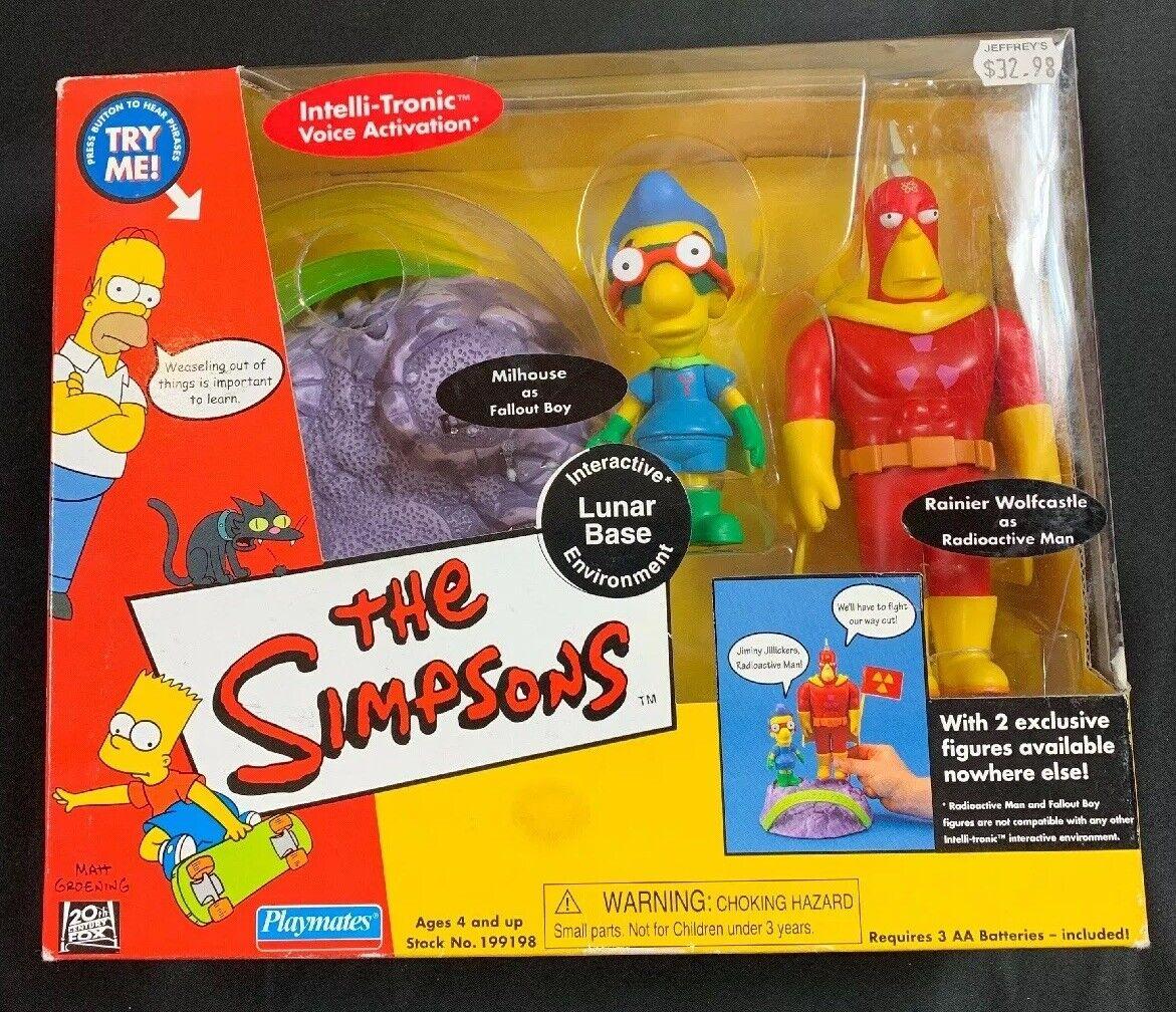 The Simpsons INTERACTIVE LUNAR BASE ENVIRONMENT Playset - Playmates 2001 - MIB