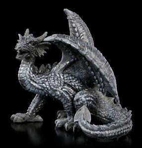 Statuetta-Drago-Dark-Shadow-Fantasy-Drachenwachter-Dekostatue