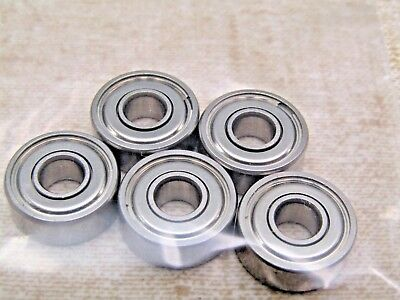 Nice Quality Good Shield Lot of 5 605-2Z 14X5X5 mm Metal Shield Bearing 605ZZ