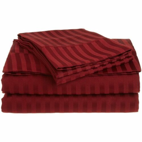 All Colors /& Sizes Stripe Bed Sheet Sets 1000 Thread Count Egyptian Cotton