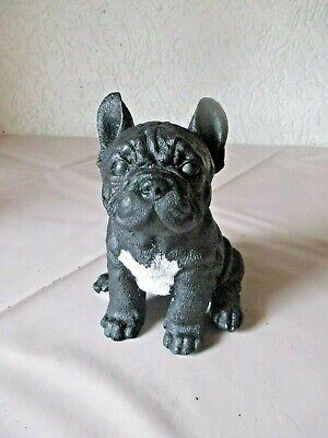 2xResin /& Plastic Tierfigur Spielzeug Französische Bulldogge Statue Garten
