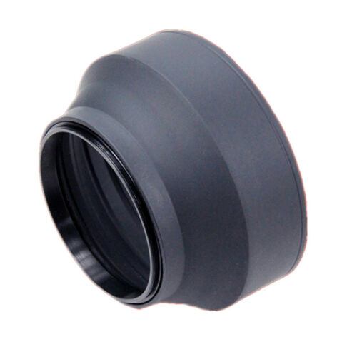 Collapsible 3 Stage Rubber Lens Hood Sun Shade For Camera ME