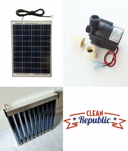 Solar Hot Water Heater Kit FREE SHIPPING CIRCULATING PHOTOVOLATIC GREEN