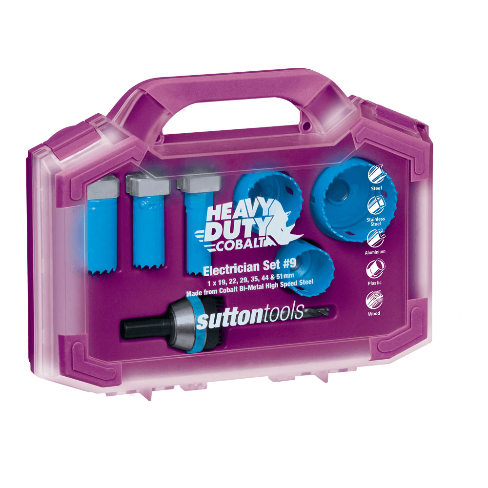 Sutton Sutton Sutton Tools HOLESAW SET 6Pcs 16-51mm Premium Cobalt High Speed SteelAust Brand e3d1b3