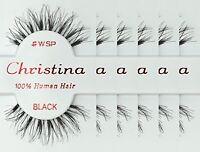 Christina False Eyelashes Makeup Human Hair Eye Lash Eyelash Lashes Wsp 6 Pair