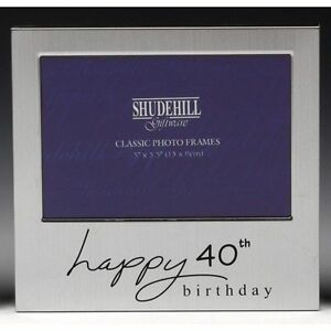 Image Is Loading Happy 40th Birthday Gift Present Photo Frame 5