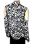 Nicole-Miller-Artelier-Silk-Cold-Shoulder-Blouse-Black-White-Asymmetric-Hem-PXS thumbnail 2