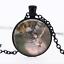 Degas Prima Ballerina Black Glass Cabochon Necklace chain Pendant Wholesale